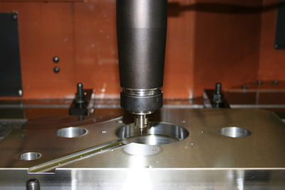 Installation photograph of machining