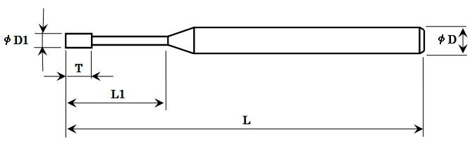 超硬シャンク電着砥石(タイプ1)